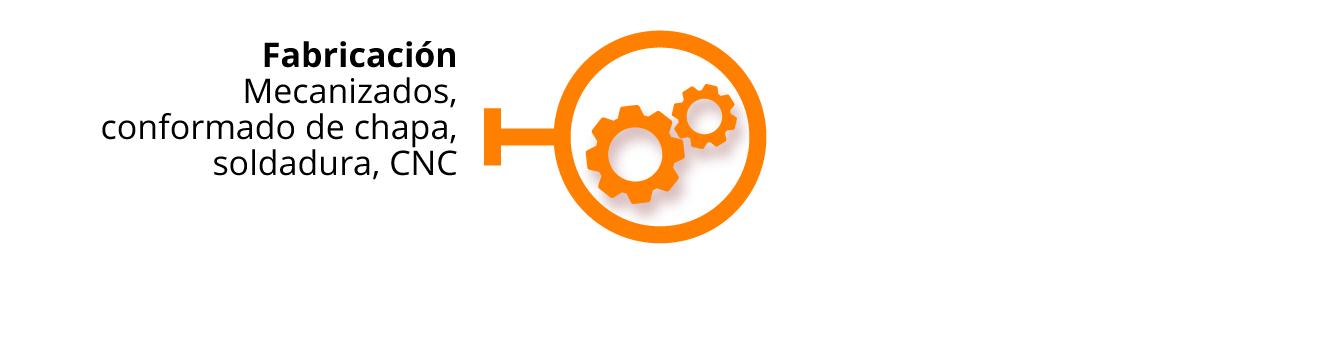 Fabricación, mecanizados, conformado de chapa, soldadura, CNC